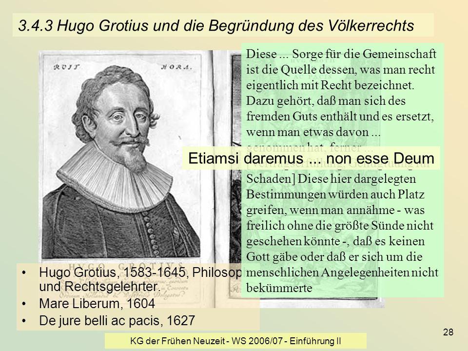 3.4.3 Hugo Grotius und die Begründung des Völkerrechts