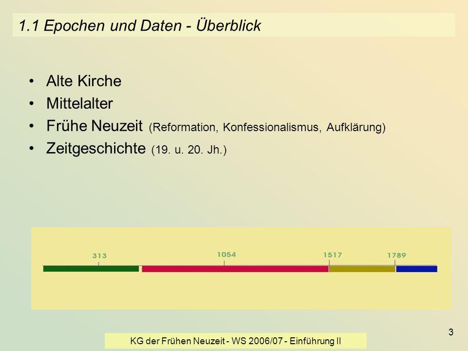 1.1 Epochen und Daten - Überblick