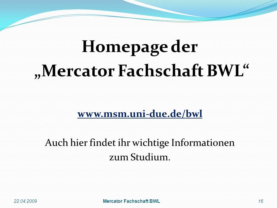"""Mercator Fachschaft BWL Mercator Fachschaft BWL"