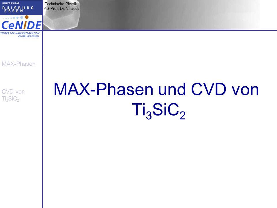 MAX-Phasen und CVD von Ti3SiC2