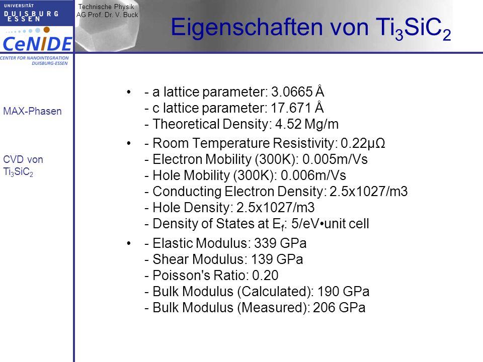 Eigenschaften von Ti3SiC2