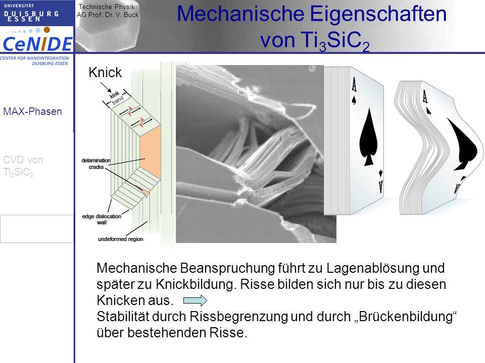 Mechanische Eigenschaften von Ti3SiC2
