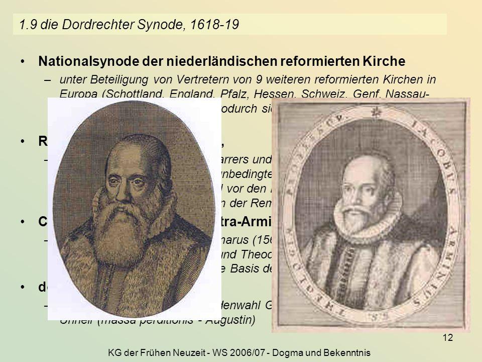 1.9 die Dordrechter Synode, 1618-19