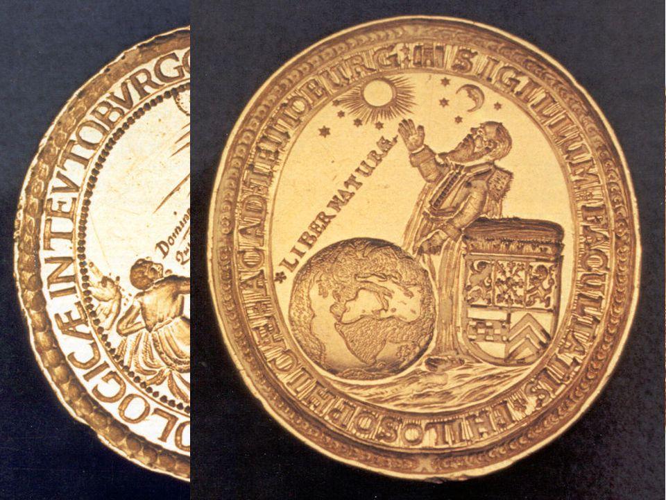 die beiden Siegel halten die beiden Weisen von Gotteserkenntnis, wie sie in der Theologie der FNZ gelehrt wurde, fest: