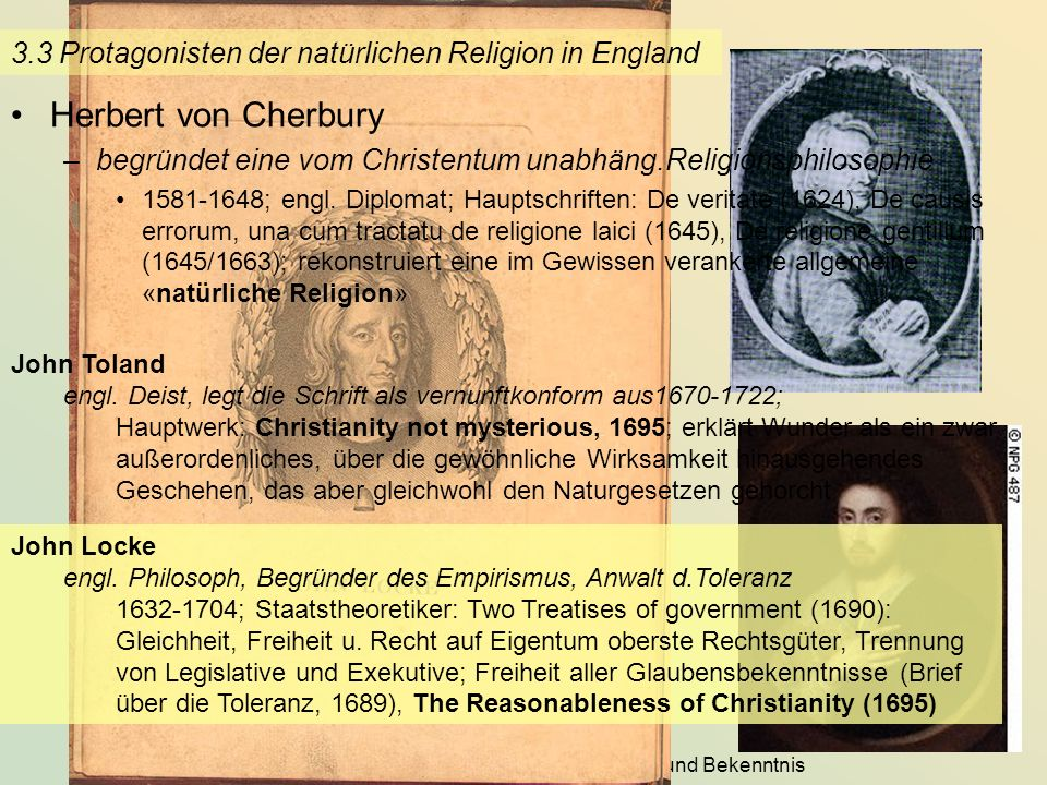 3.3 Protagonisten der natürlichen Religion in England