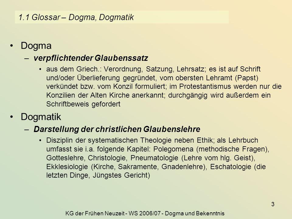 1.1 Glossar – Dogma, Dogmatik