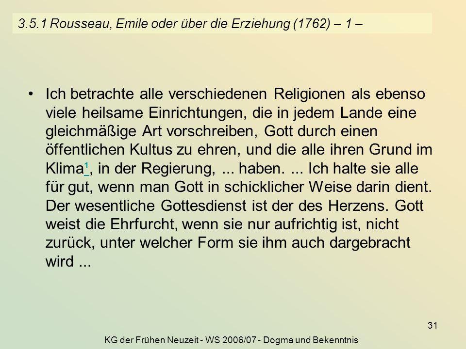 3.5.1 Rousseau, Emile oder über die Erziehung (1762) – 1 –