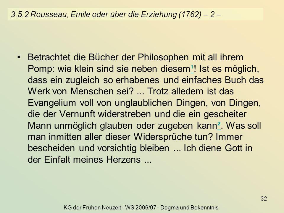 3.5.2 Rousseau, Emile oder über die Erziehung (1762) – 2 –