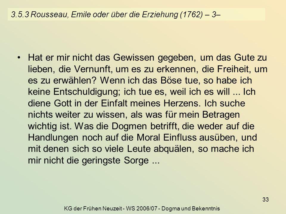 3.5.3 Rousseau, Emile oder über die Erziehung (1762) – 3–