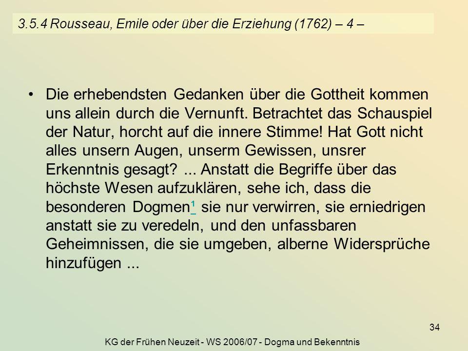 3.5.4 Rousseau, Emile oder über die Erziehung (1762) – 4 –