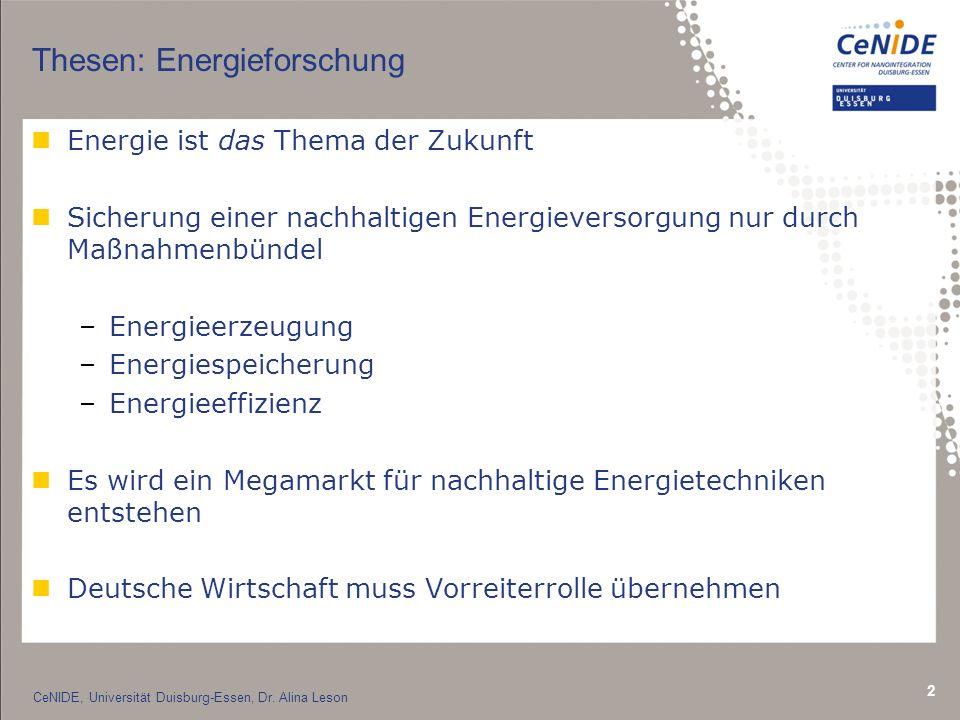 Thesen: Energieforschung