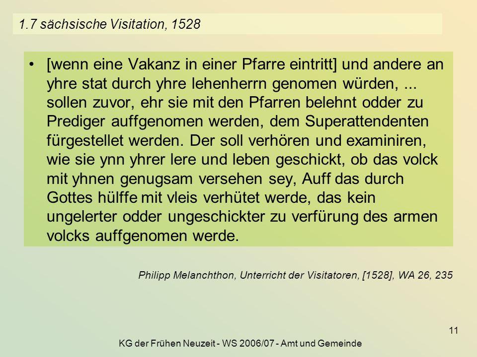 1.7 sächsische Visitation, 1528