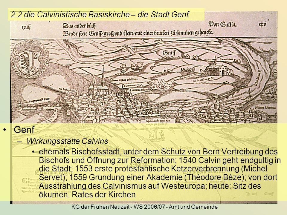 2.2 die Calvinistische Basiskirche – die Stadt Genf