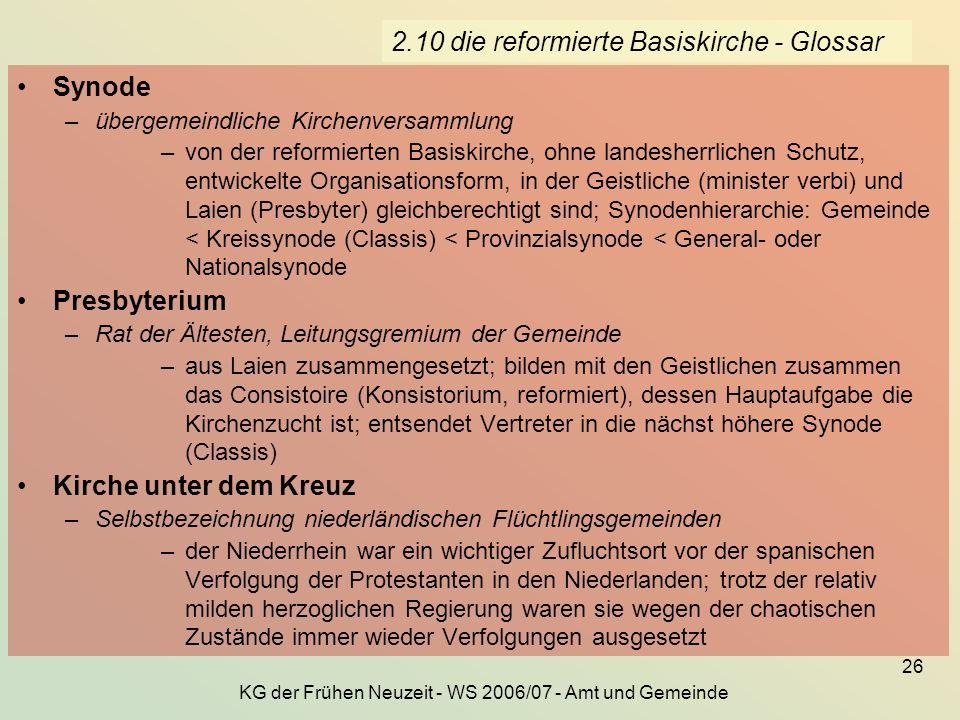 2.10 die reformierte Basiskirche - Glossar