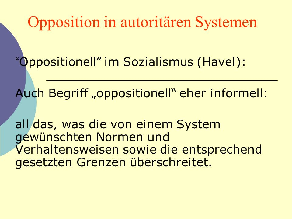 Opposition in autoritären Systemen