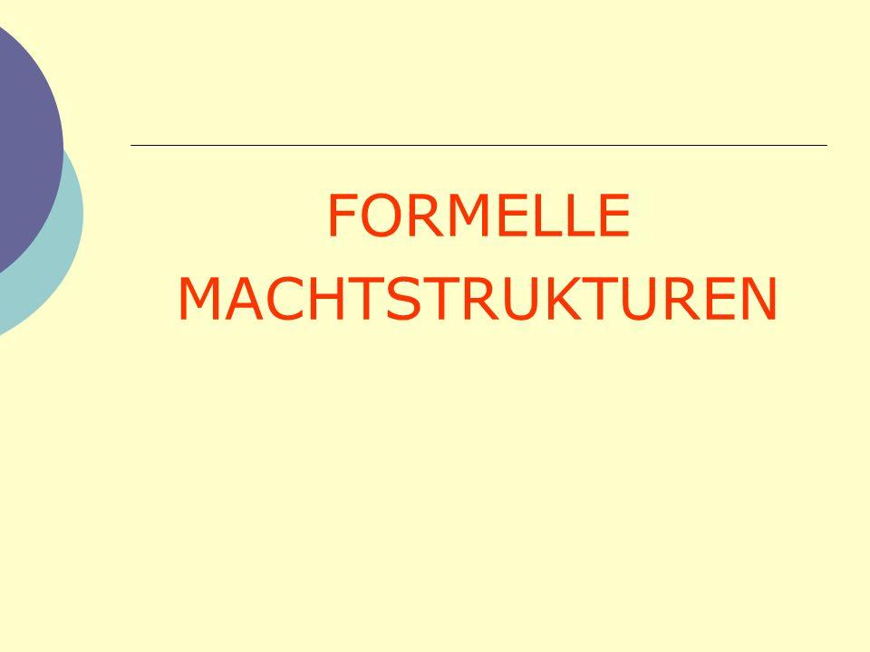 FORMELLE MACHTSTRUKTUREN