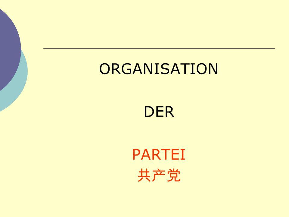 ORGANISATION DER PARTEI 共产党