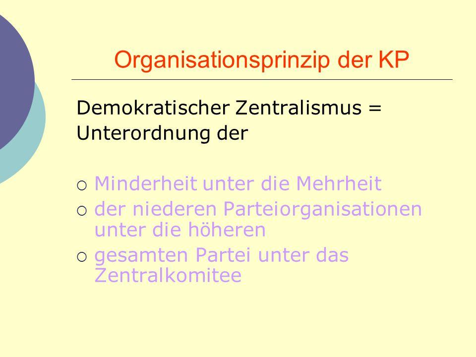 Organisationsprinzip der KP