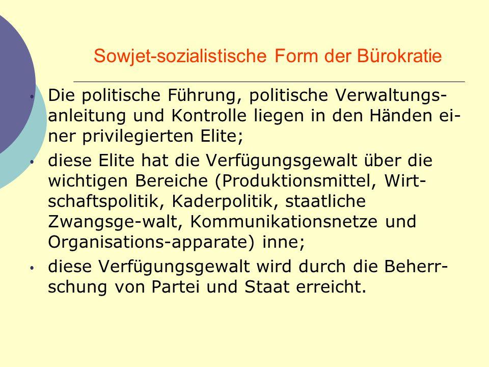 Sowjet-sozialistische Form der Bürokratie