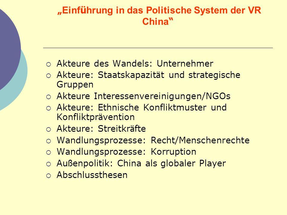 """""""Einführung in das Politische System der VR China"""
