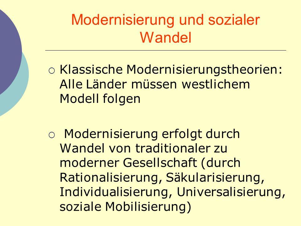 Modernisierung und sozialer Wandel