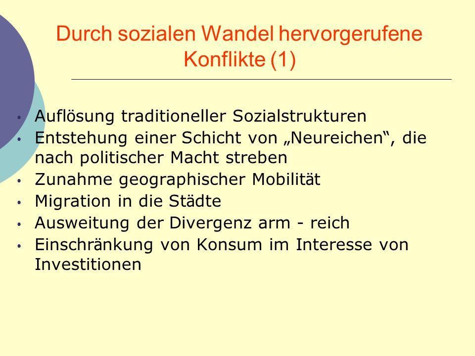 Durch sozialen Wandel hervorgerufene Konflikte (1)