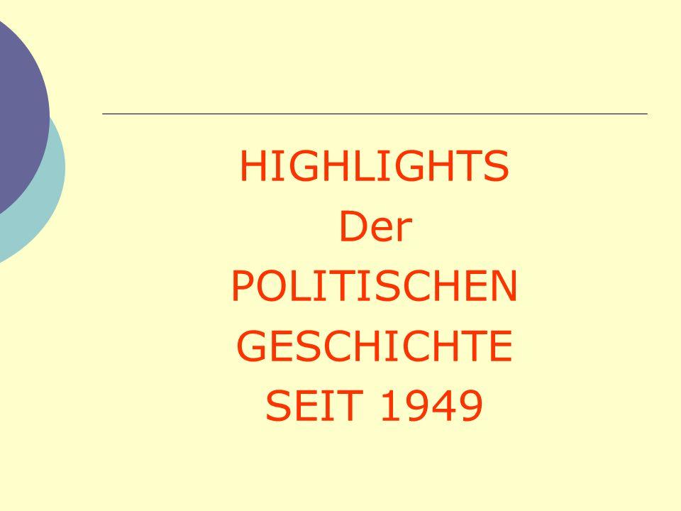HIGHLIGHTS Der POLITISCHEN GESCHICHTE SEIT 1949