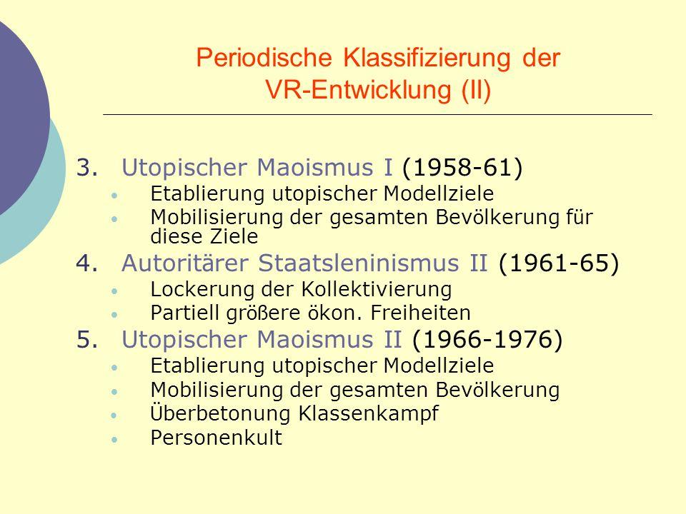 Periodische Klassifizierung der VR-Entwicklung (II)