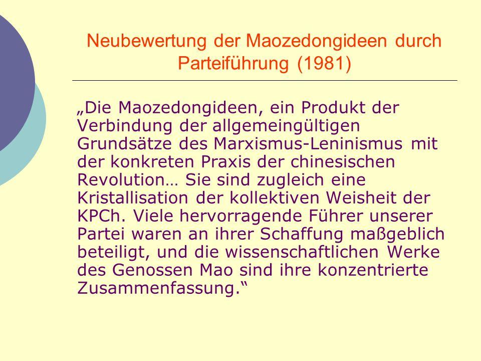 Neubewertung der Maozedongideen durch Parteiführung (1981)