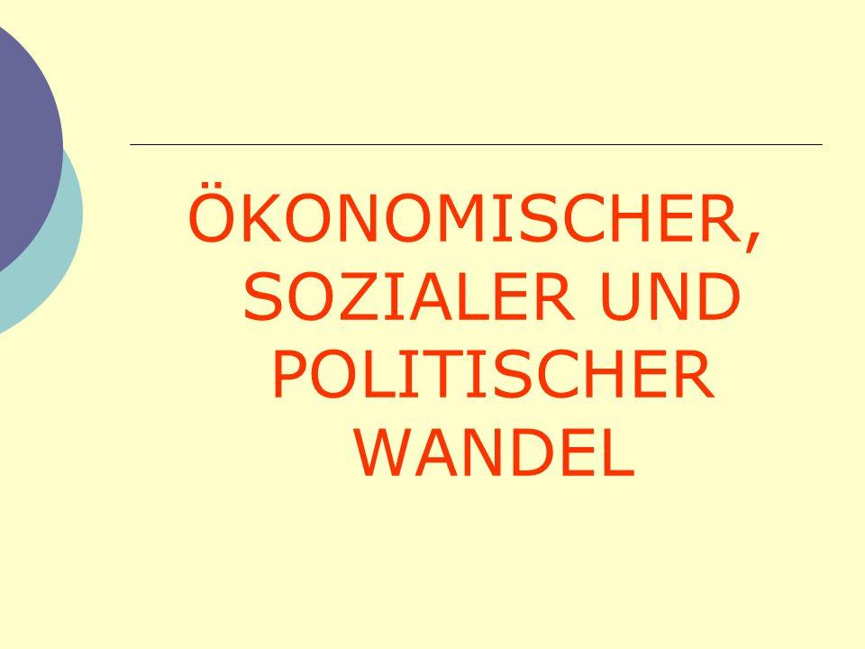 ÖKONOMISCHER, SOZIALER UND POLITISCHER WANDEL