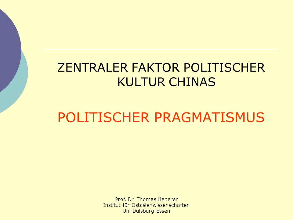 POLITISCHER PRAGMATISMUS