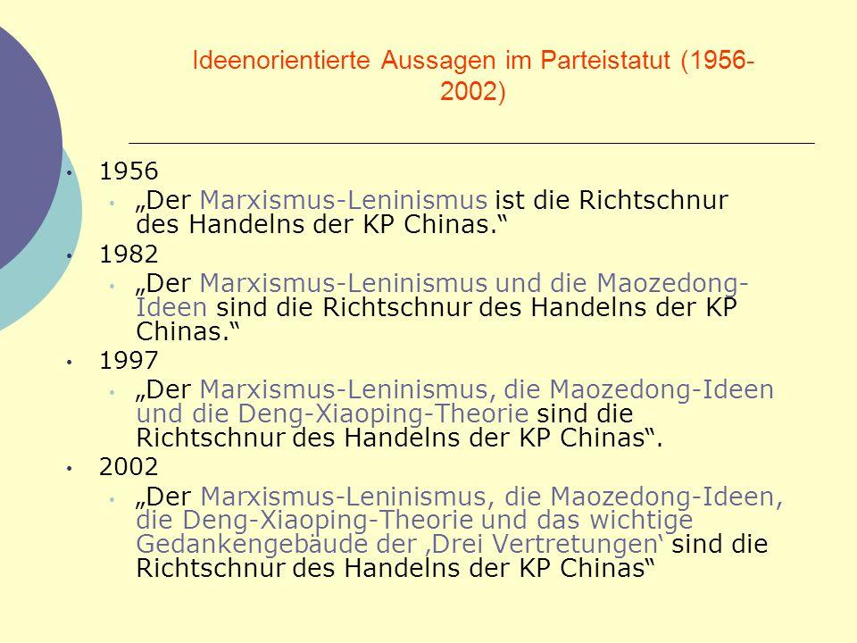 Ideenorientierte Aussagen im Parteistatut (1956-2002)