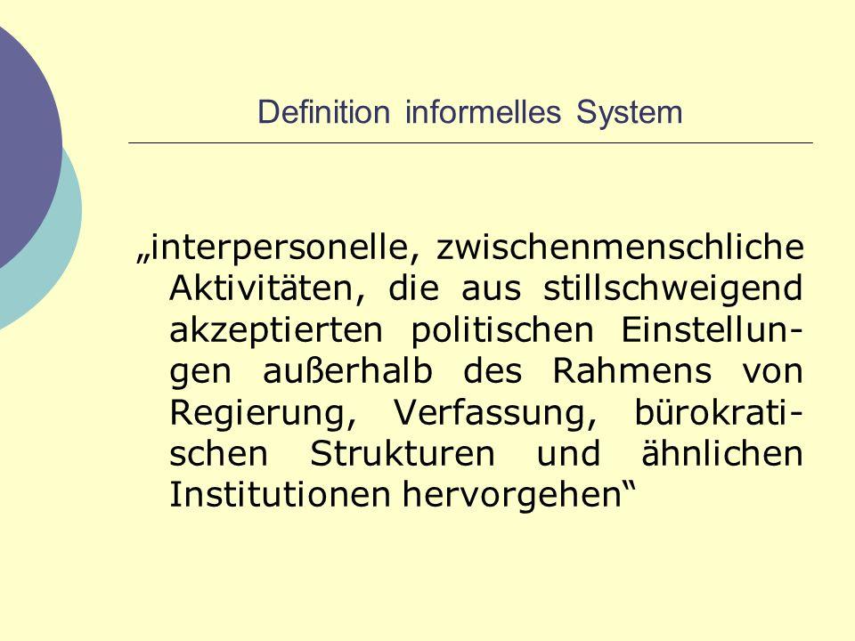 Definition informelles System