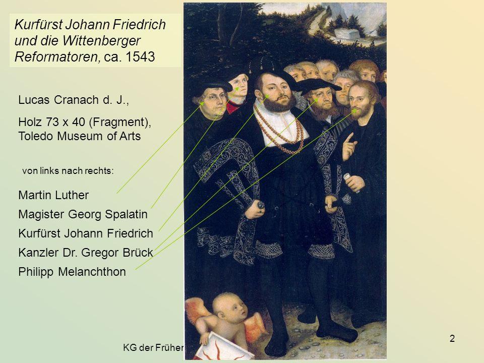 Kurfürst Johann Friedrich und die Wittenberger Reformatoren, ca. 1543