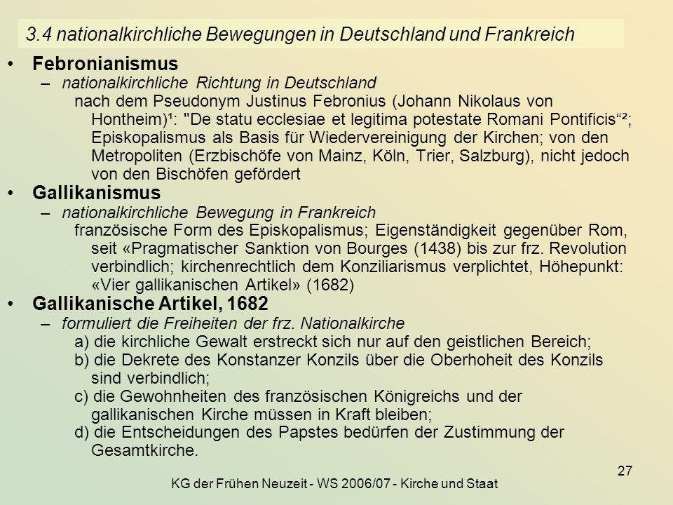 3.4 nationalkirchliche Bewegungen in Deutschland und Frankreich