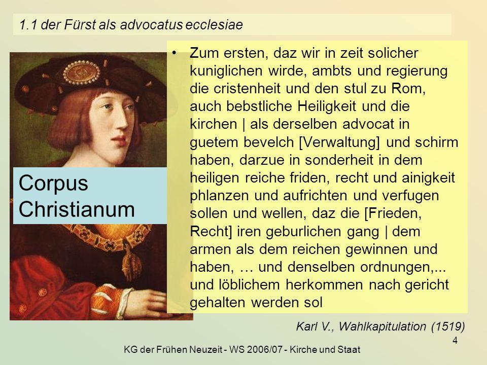 1.1 der Fürst als advocatus ecclesiae