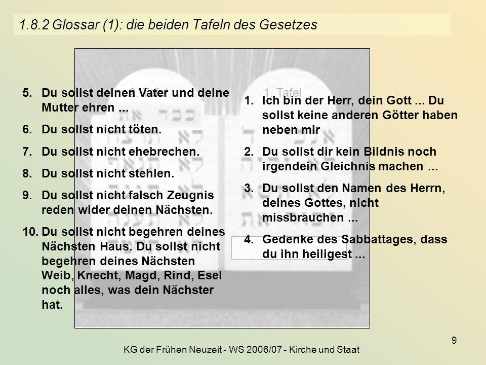 1.8.2 Glossar (1): die beiden Tafeln des Gesetzes