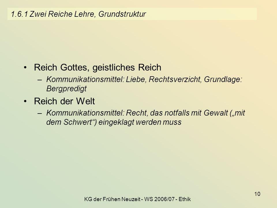 1.6.1 Zwei Reiche Lehre, Grundstruktur