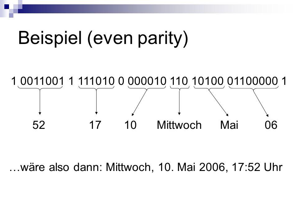 Beispiel (even parity)