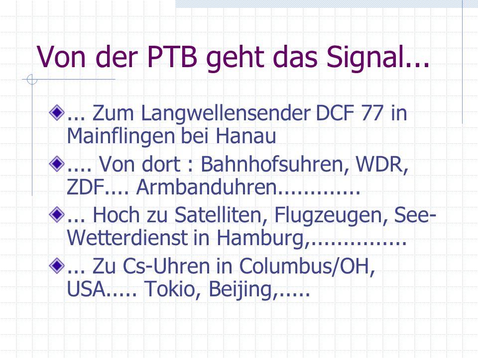Von der PTB geht das Signal...