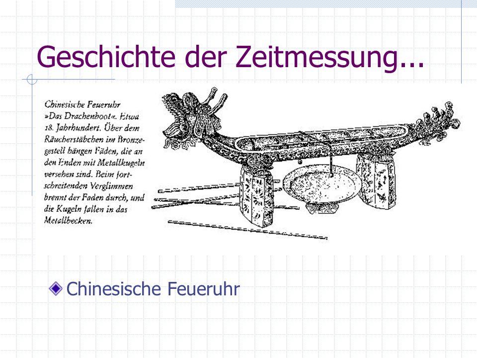 Geschichte der Zeitmessung...
