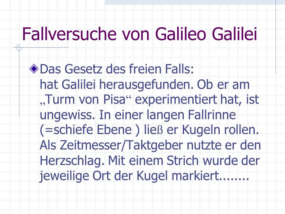 Fallversuche von Galileo Galilei