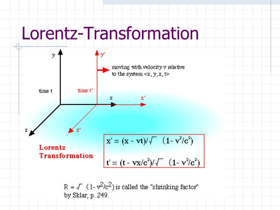 Lorentz-Transformation
