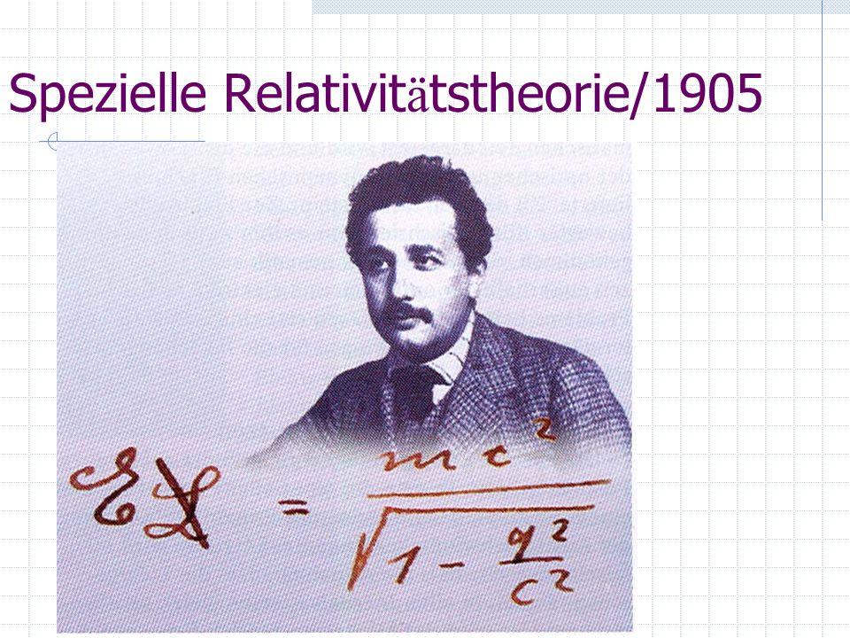 Spezielle Relativitätstheorie/1905