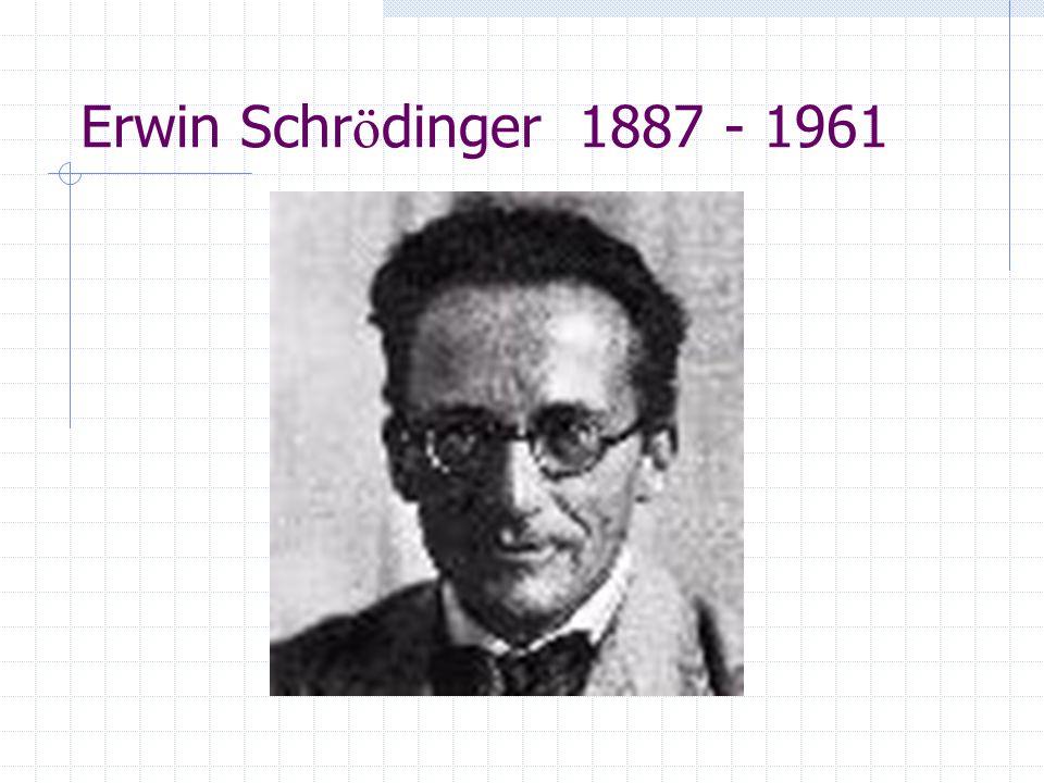 Erwin Schrödinger 1887 - 1961