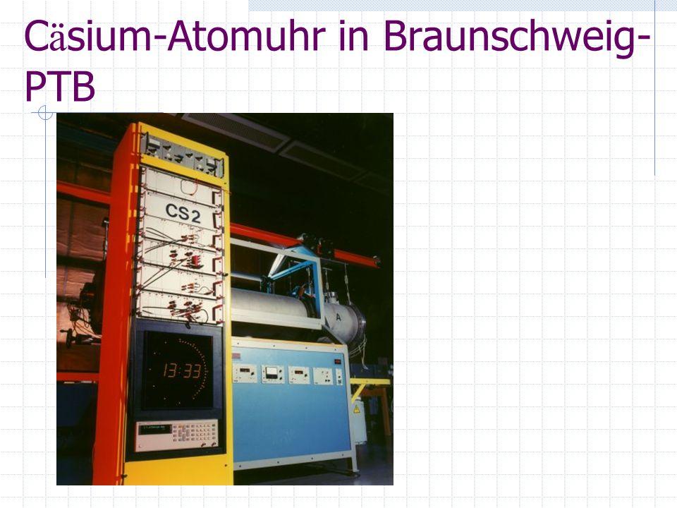 Cäsium-Atomuhr in Braunschweig-PTB