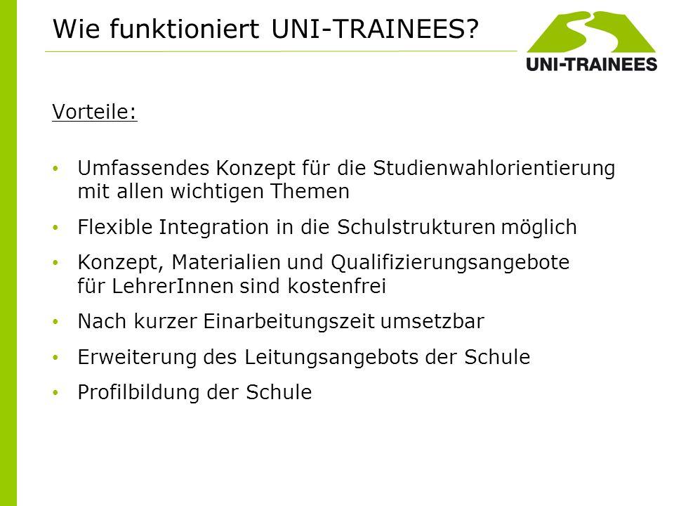 Wie funktioniert UNI-TRAINEES Vorteile: