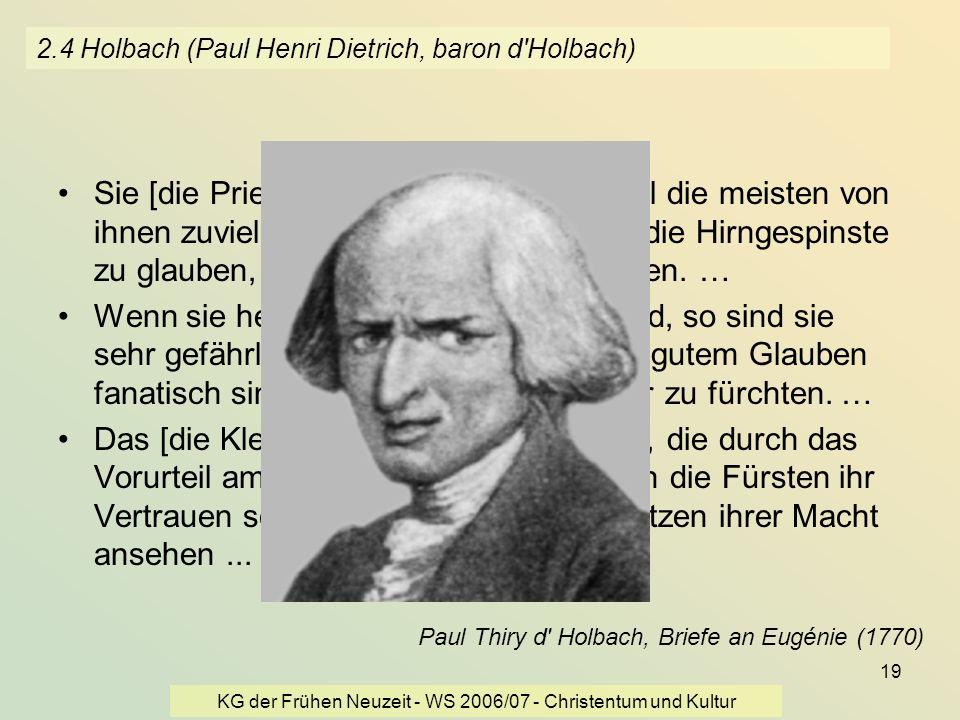 2.4 Holbach (Paul Henri Dietrich, baron d Holbach)