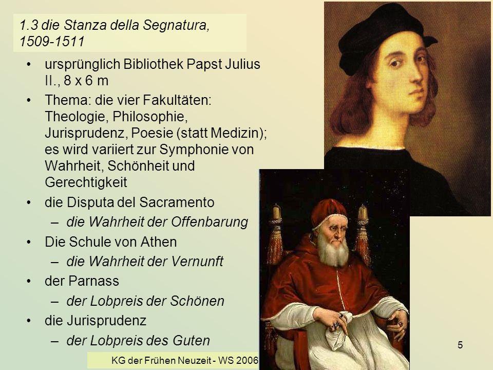 1.3 die Stanza della Segnatura, 1509-1511
