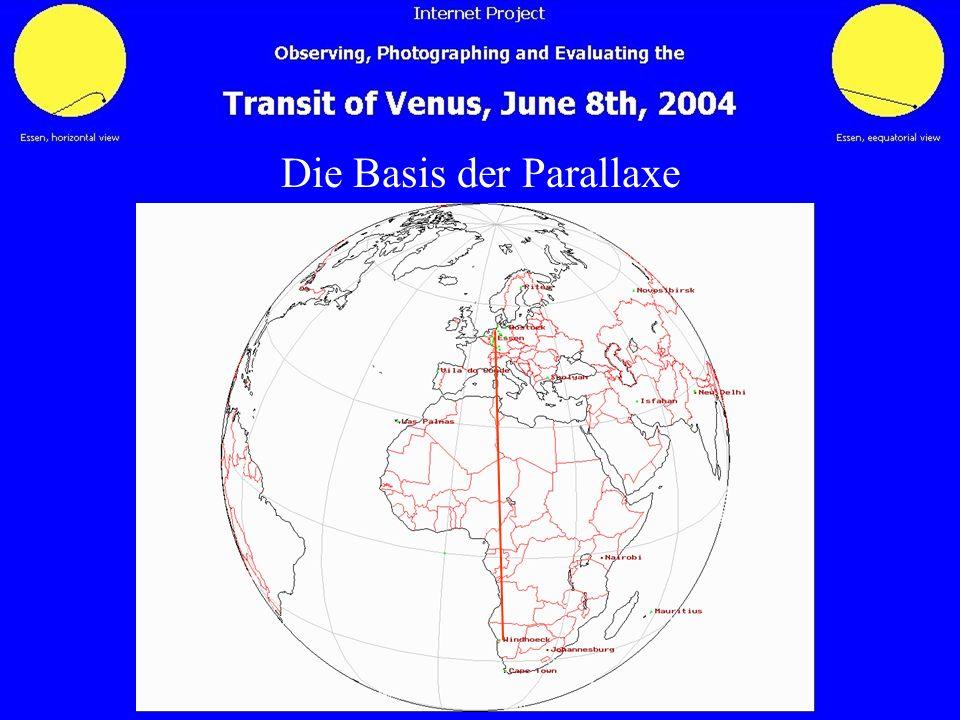Die Basis der Parallaxe